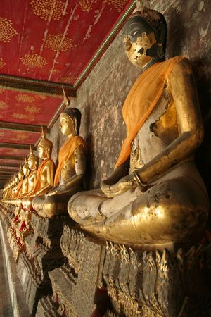 wat suthat buddhist temple in bangkoks old city thailand photo