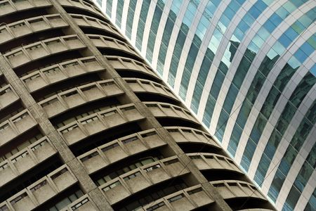 contrasting old and new styles of architecture in manila the philippines Stock Photo - 6558536