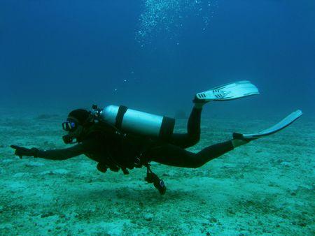 Scuba diving boracay island in de Filippijnen Stockfoto