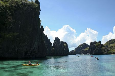 palawan: stunning landscapes around el nido palawan island, in the philippines