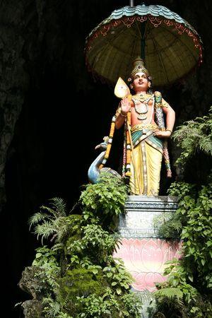 kavadi: statue outside the batu caves hindu shrine near kuala lumpur malaysia Stock Photo