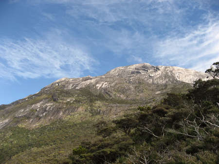 slopes of mount kinabalu in sabah borneo photo