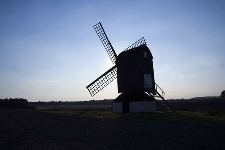 oldest: the oldest windmill in england in pitstone hertfordshire
