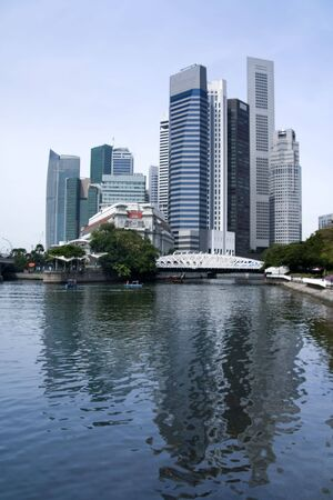 modern architecture and landmarks of central business district of singapore city state Stock Photo - 6618081