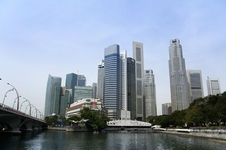 modern architecture and landmarks of the central business district of singapore city state Stock Photo - 6618128