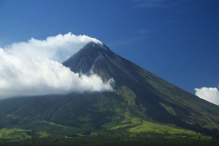 Mayon Volcano in Albay, Provinz, South Luzon in die Philippinen, die meisten aktiven Welten-volcanoe Standard-Bild - 6618025