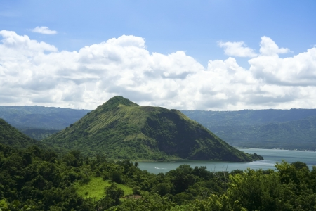 taal crater lake seen from the slopes of the highly active taal volcano tagaytay in the philippines Stock Photo - 6625044