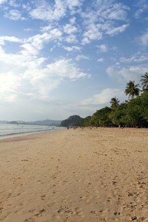 nang: tourists on ao nang beach krabi thailand Stock Photo