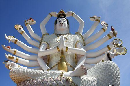 18 armed buddha statue at wat plai laem temple on koh samui thailand Stock Photo - 6671190