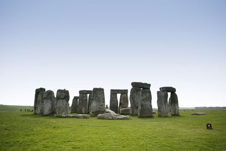 prehistoric standing stone circle of stonehenge on salisbury plain wiltshire england photo