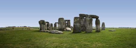 prehistoric standing stone circle of stonehenge on salisbury plain wiltshire england photo