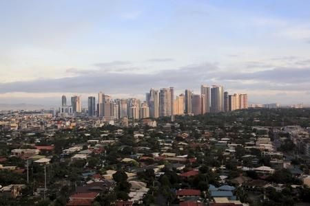 sprawl: FORT BONIFACIO, MANILA, PHILIPPINES � DECEMBER 2010: condominiums and office blocks of fort bonifacio in manila the philippines