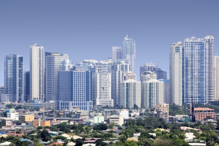 high rise condominiums and offices of fort bonifacio modern financial and business district of metro manila in the philippines