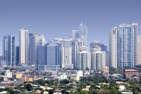 Hohe Aufstieg Eigentumswohnungen und Büros Fort Bonifacio modernen Finanz- und Geschäftsviertel von Metro Manila auf den Philippinen Standard-Bild - 10468431