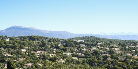 luxury villas and holiday homes on the hills behind Mougins and Cannes on the french riviera  photo