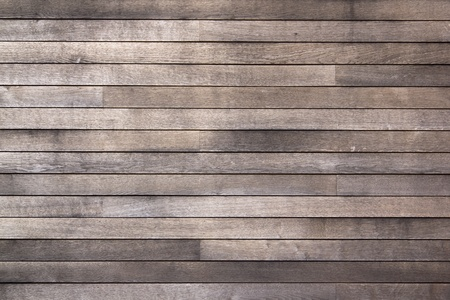 weathered: full frame background of worn grainy wooden planking Stock Photo
