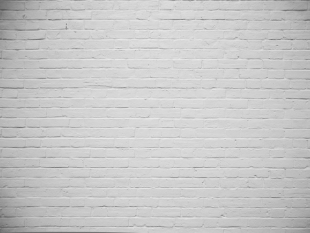 blank brick wall painted white background