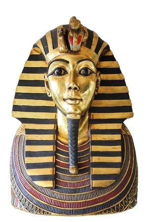 esfinge: Copia moderna del antiguo egipcio Tutankamón Foto de archivo