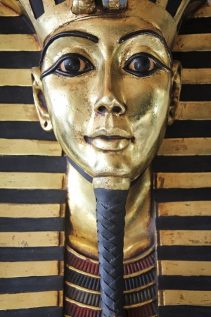 Modern copy of ancient egyptian king Tutankhamen photo