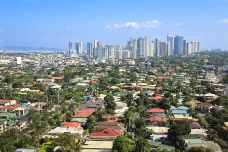 Hochhaus Büros von Fort Bonifacio Geschäftsviertel Makati Stadtzentrum von Manila auf den Philippinen Standard-Bild - 16218821
