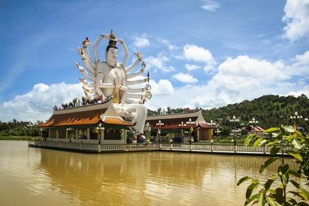 koh: big buddha statue in lake temple bophut near chaweng on koh samui island in the gulf of thailand Stock Photo