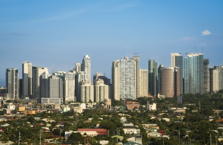 manila: office buildings and condominiums in fort bonifacio the business and financial centre of manila city in the philippines Stock Photo