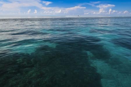 gaurd: remote coast gaurd ranger station on tubbataha reef marine park in open ocean of sulu sea off palawan island in the philippines
