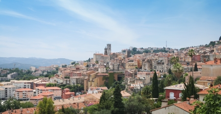 historic buildings in the centre of grasse an old industrial town famous for the production of perfumes in the south of france Stock Photo