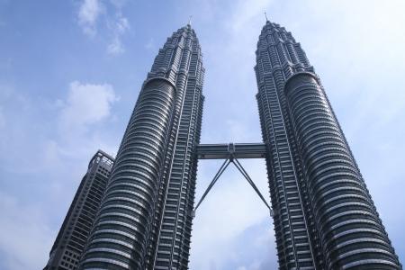gemelas: KUALA LUMPUR, MALASIA - 17 DE NOVIEMBRE: las Torres Petronas el 17 de noviembre de 2007 en Kuala Lumpur.