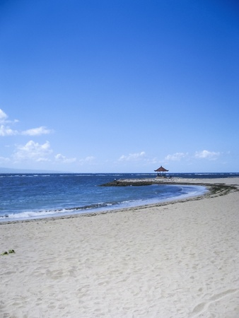 sanur: sandy beach of sanur in bali indonesia