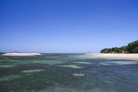 sanur: reef off sanur beach in bali indonesia