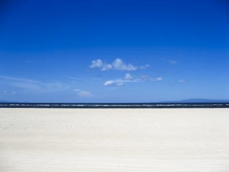sanur: white sand beach and clear blue sky background sanur bali indonesia Stock Photo