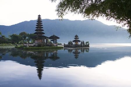bratan: hindu temple Pura Ulun Danu on lake brataan in bedugal bali indonesia