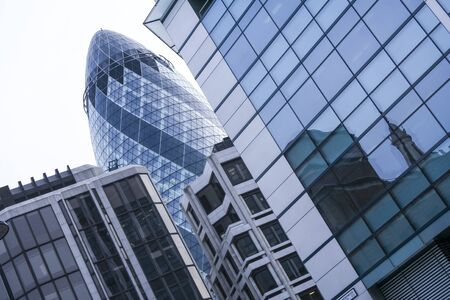 LONDON, UNITED KINGDOM - JAN 17: the exterior of 30 St Mary Axe (the  Stock Photo - 19465466