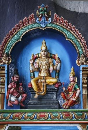colorwall panels depicting hindu gods inside the batu caves in Kuala Lumpur Malaysia photo