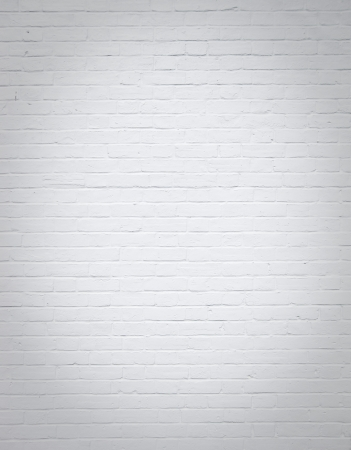 painted wall: side of house white brick wall background