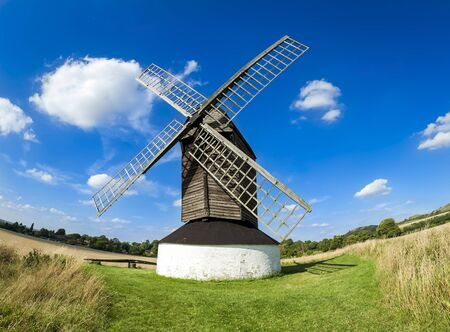 pitstone windmill near triing in hertfordshire in the englsih countryside photo