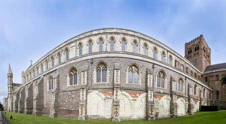 remnants: the walls of englands longest cathedral displaying remnants of the original norman construction