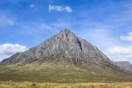 wilds: bleack rocky mountain rising up at glen coe in the highlands of scotland