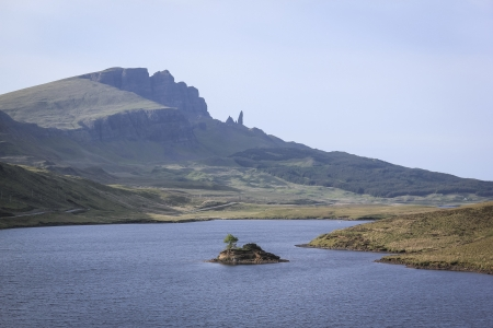 rock formations: old man of stor rock formation on the isle of sky in the highlands of scotland