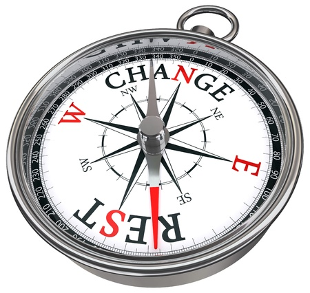 way to change vs rest concept compass isolated on white background Stock Photo - 10941402