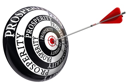 prosperity concept target isolated on white background Stock Photo - 10983737