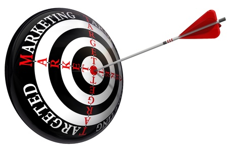 targeted: targeted marketing concept  isolated on white background