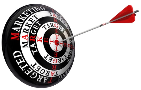 targeted marketing concept  isolated on white background photo