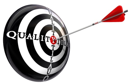 quality concept target isolated on white background photo