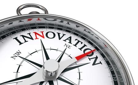 innovacion: br�jula innovaci�n concepto aislado sobre fondo blanco