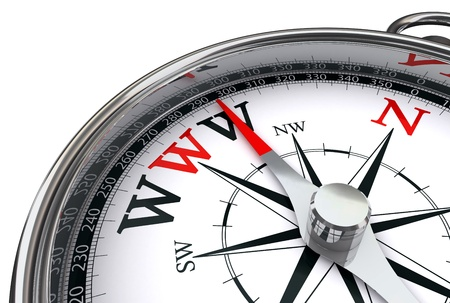 www the way indicated by compass conceptual image on white background Stock Photo - 12117923