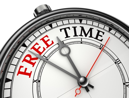 free time concept clock isolated on white background photo