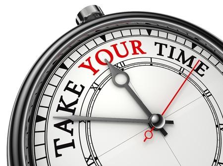 caes: tener su reloj concepto de tiempo aisladas sobre fondo blanco