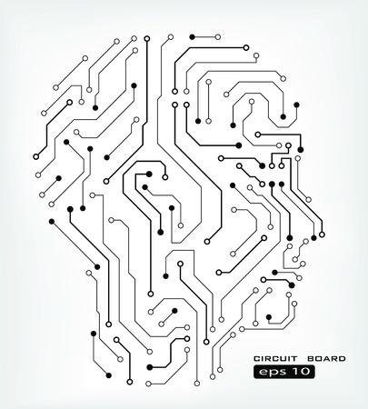 devre soyut insan kafası arka plan Illustration